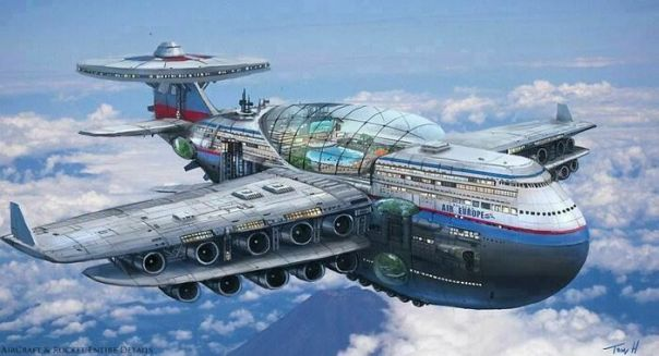 1970s Futuristic Concept For Jetliner Air Travel