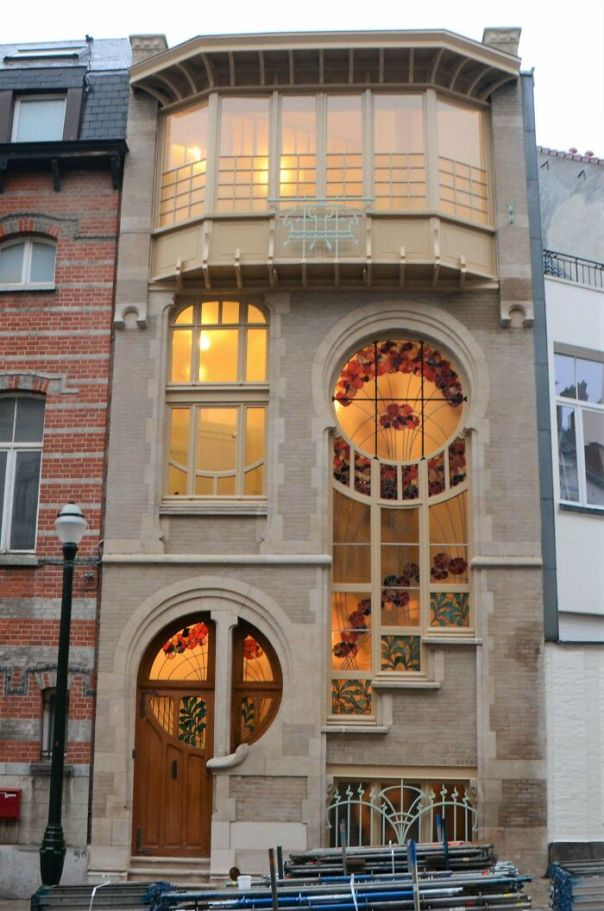 House In Art Nouveau Style, Brussels, Belgium