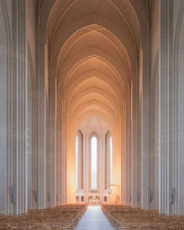 Grundtvig's Church In Copenhagen, Denmark. Was Completed In 1940 And Its Design Is A Combination Between A Cathedral And The Style Of Old Danish Country Houses