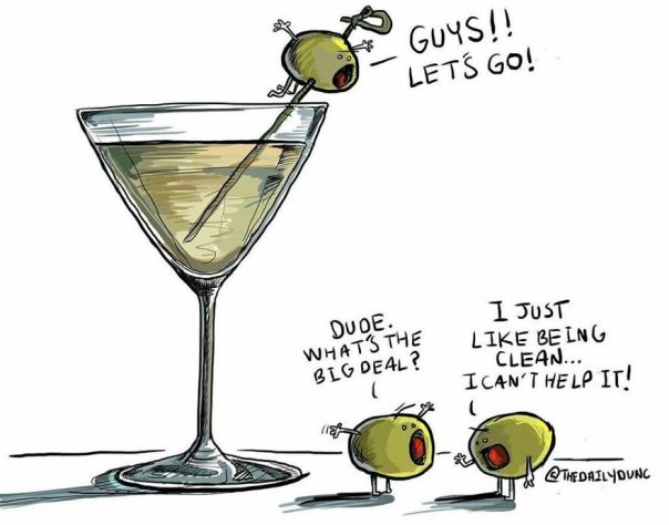 I Really Want A Dirty Martini This Weekend. 🍸 #thedailydunc - happy Friday!! Any Fun Plans?!