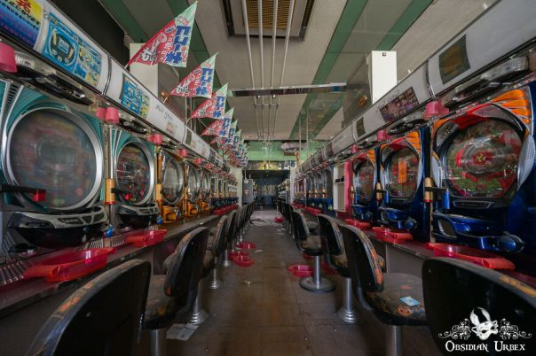 This Abandoned Pachinko Hall Would Once Have Been A Hive Of Activity. Pachinko Is A Popular Japanese Arcade Game