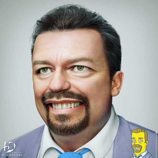 Ricky Gervais From The Simpsons