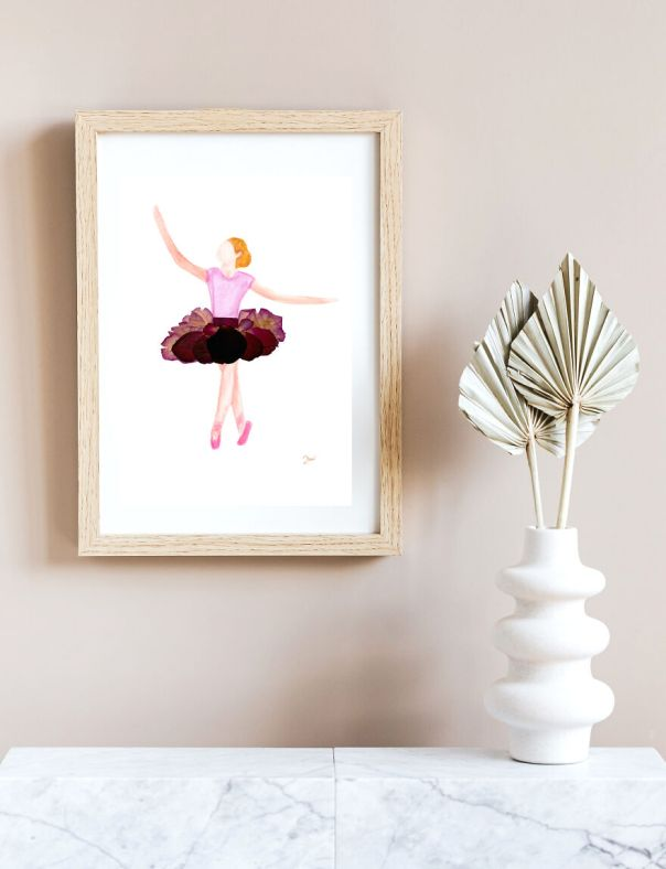 Ballerina Made From Pressed Rose Petals