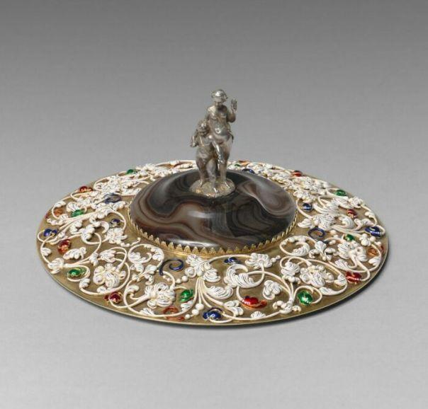 Fossin Cup Lid (Rfml.oa.2020.13.1.1) By Morel, Jean-Valentin; Fossin, Jean-Baptiste; Fossin, Jules (1843)