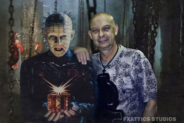 "Pinhead And Doug Bradley From ""Hellraiser"""