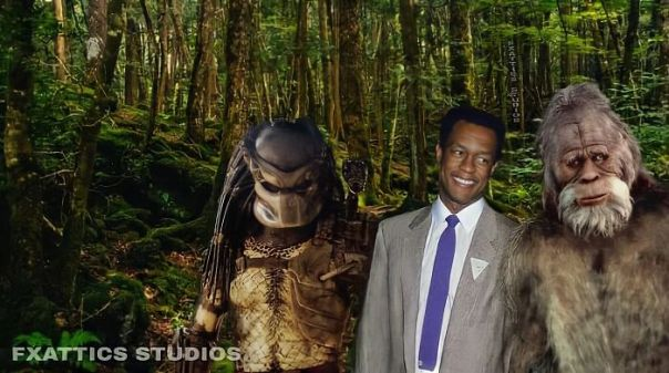 "Predator And Big Foot By, Kevin Peter Hall From ""The Predator"" And ""Harry And The Hendersons"""