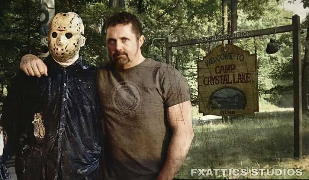 "Jason Voorhees And Kane Hodder From ""Friday The 13th"""