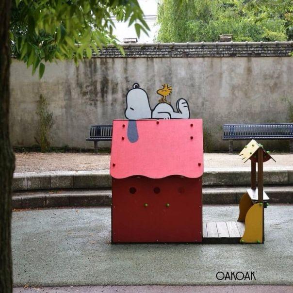 Last Year In Champigny. #snoopy #oakoak #peanuts #streetart #urban #dog #chien #art #fun #urbanart #stencil #graff #graffiti #wall