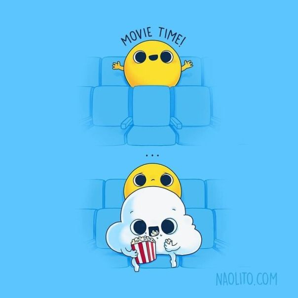 My Typical Movie Experience 🌥 Already Available As A Print At Naolito.com! Swipe To See More New Prints Available #sun #cute #adorable #kawaii #awww #aww #awesome #funny #humour #humorous #cuteness #avengers #endgame #movie #movies #cinema #theatre #illustration #indieartists #indieart #artprint #gift #originalgift #creative #relatable
