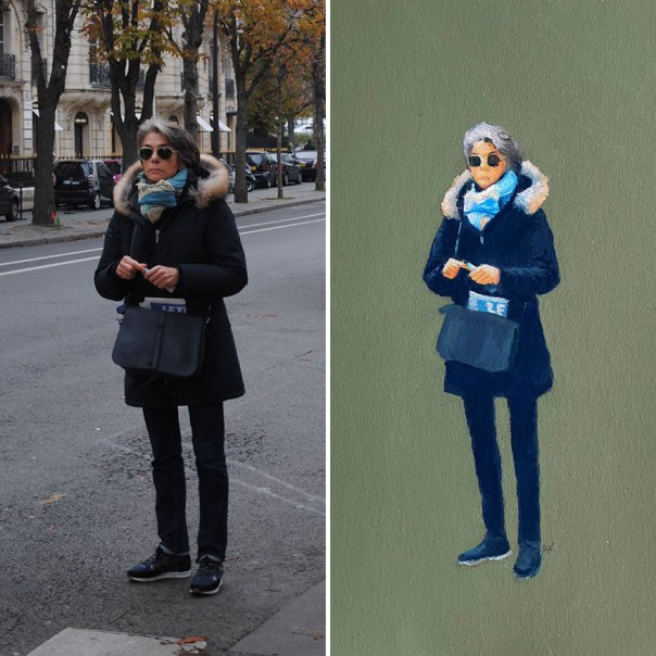 I Photograph Parisians And Use These Photos As References For My Drawings (9 New Pics)