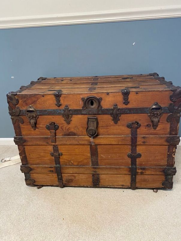 This Trunk That Came Through Elis Island With My Great, Great Grandparents
