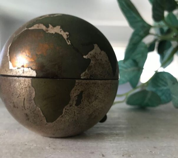 This Cool Little Globe That Opens Up To A Clock, With A Space To Insert A Picture. It Belonged To My Beloved Grandpa. I Don't Know Much About It, Other Than It Was Made In The 1940's.