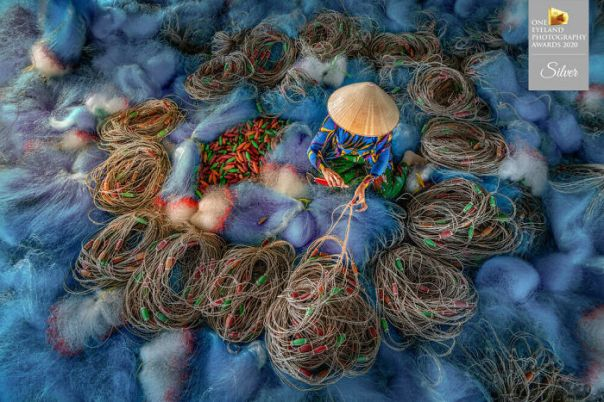 Blue Nets By Chin Leong Teo. Silver In People