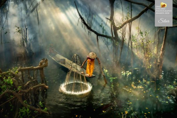 Mangrove Fisherman By Chin Leong Teo. Silver In People