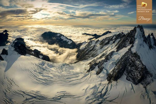 Victoria Glacier By Stephan Romer. Bronze In Nature
