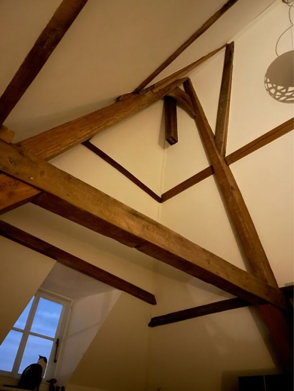 The Beams In Our Ceiling That Have Bern In Place Since Around 1650.