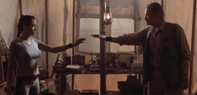 Angelina Jolie And Her Father, Jon Voight, Played Lara And Richard Croft In Lara Croft: Tomb Raider (2001)