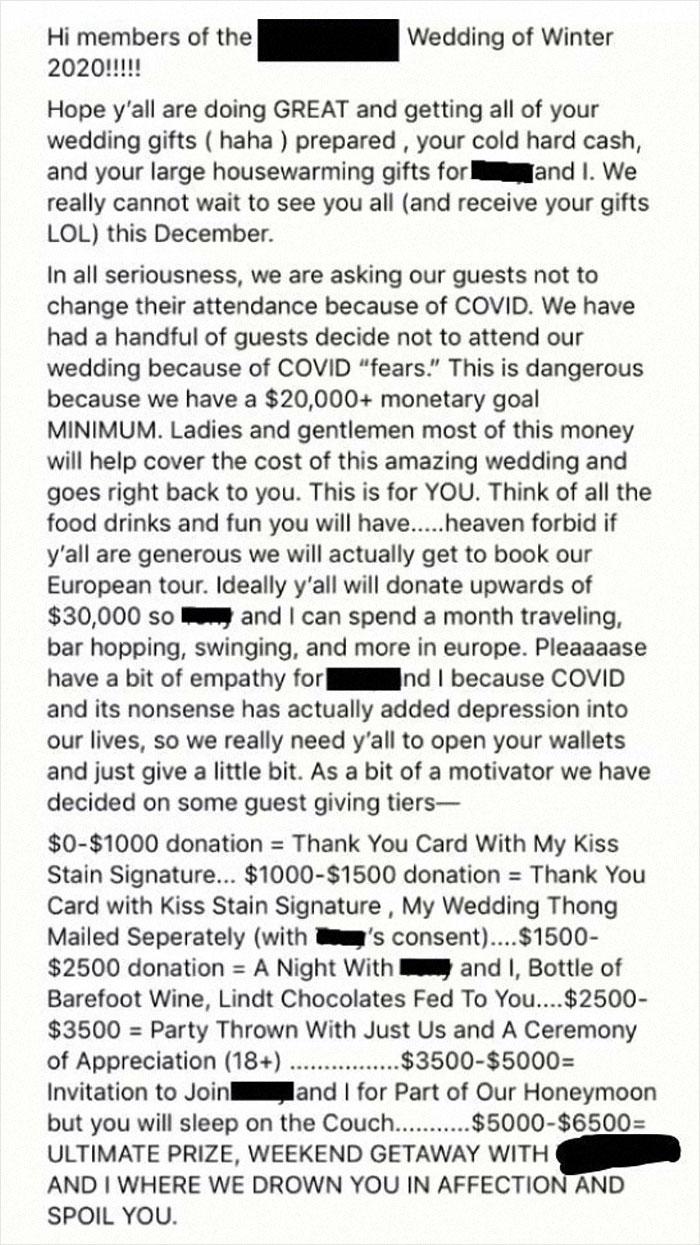 Bride Demands 30k
