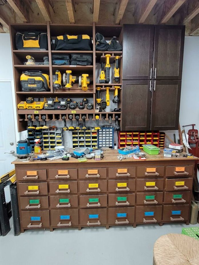 Father-In-Law's Power Tool Section In His Shop