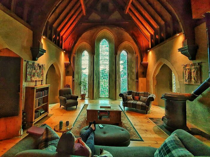 Moved Here 4 Years Ago. Converted Victorian Church In England. Love This Room