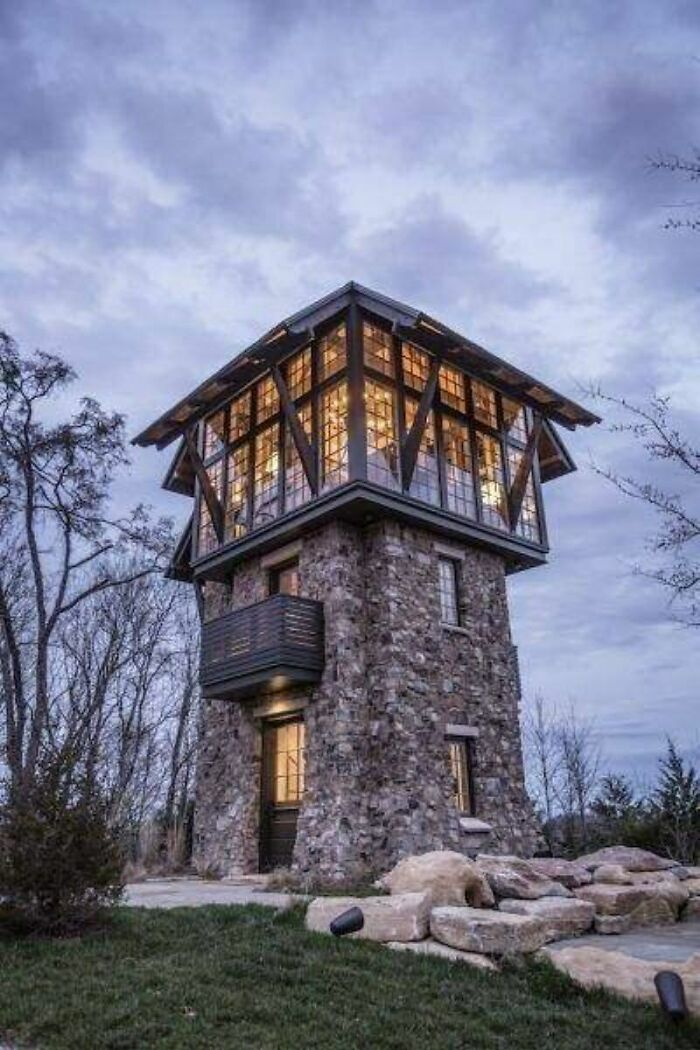 Stone Observatory Tower Converted To A Home