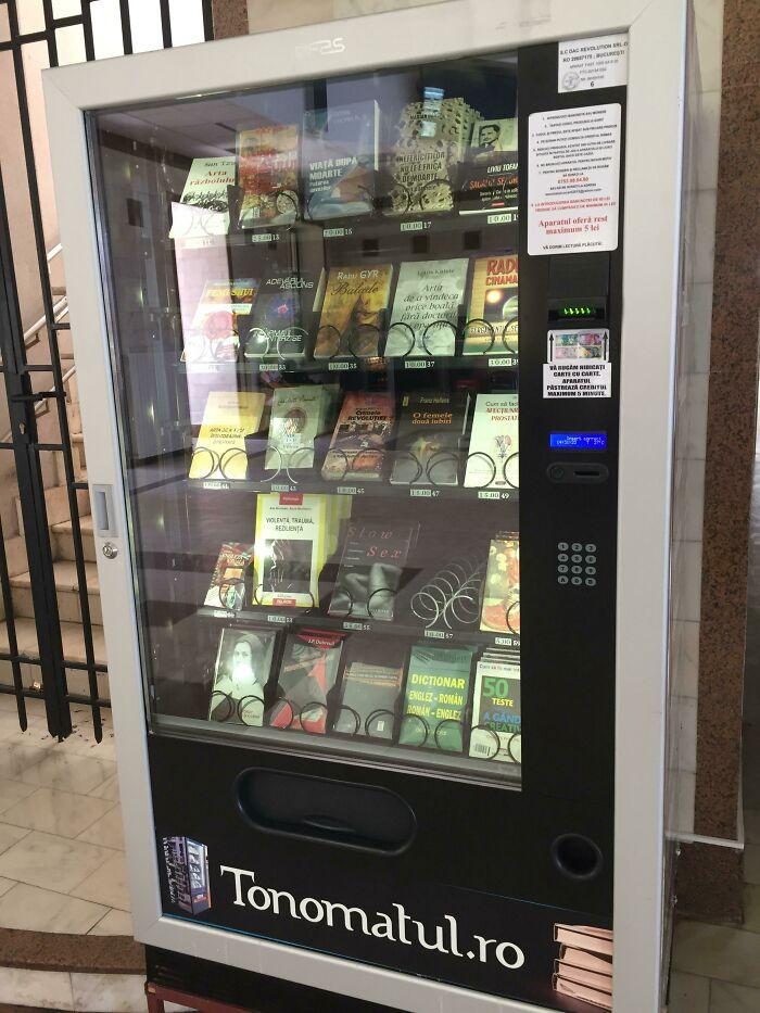 A Book Vending Machine I Found In Romania