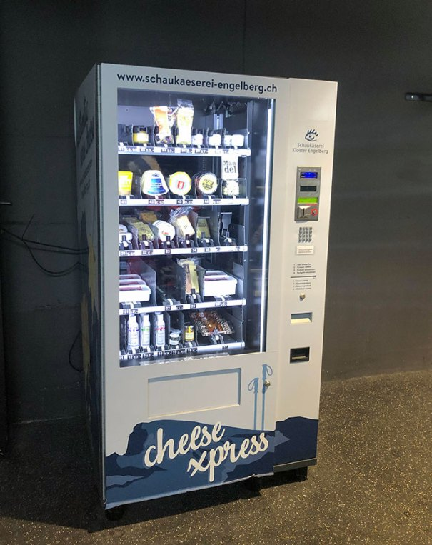 Here In Switzerland, We Have Vending Machines Just For Selling Cheese