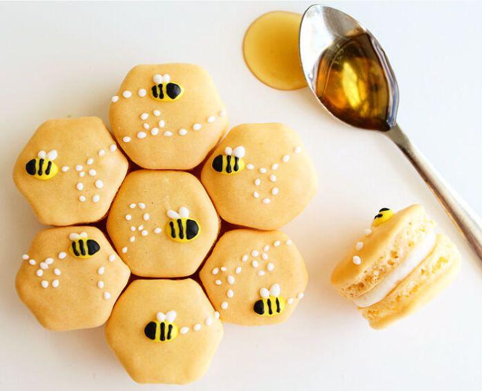 Homemade Honey Macarons