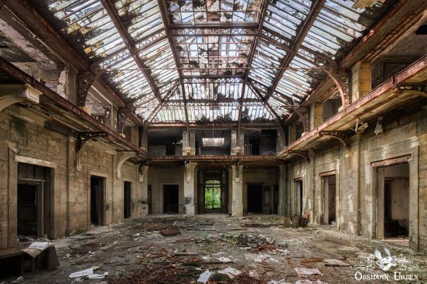 The Atrium Of This Administration Office Is A Wonder To Photograph, Even In Ruins