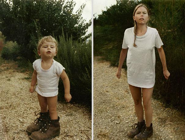 back to the future 13 - Fotógrafa Argentina recria foto antiga com a mesma pessoa anos depois