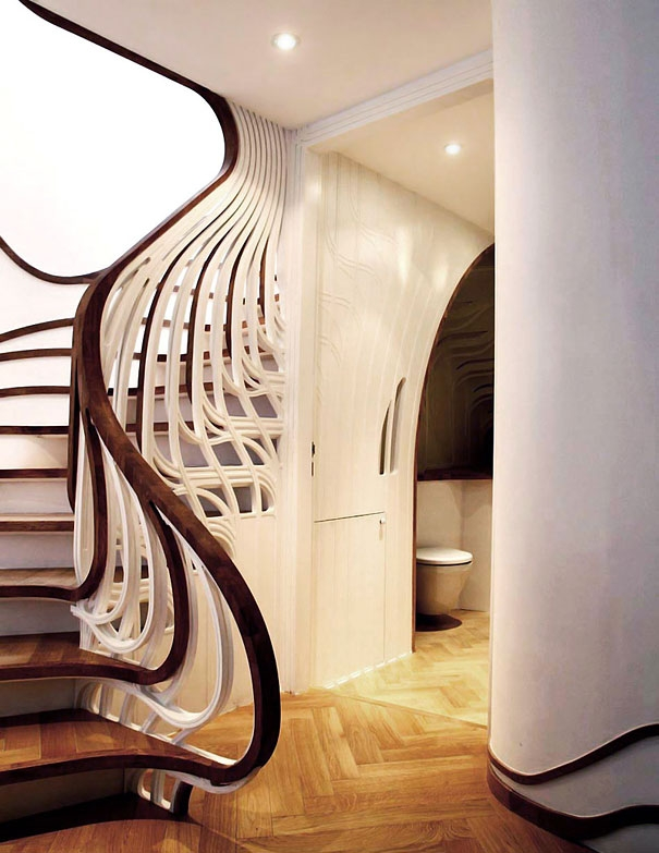 25 Unique And Creative Staircase Designs Bored Panda   Two Story House Stair Design   Upstairs   Mansion   Small Space   Front Entrance   Double Door Main Hall Door