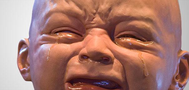 Under A Creepy Crying Baby Mask The Beat Goes On Creepy Meme On