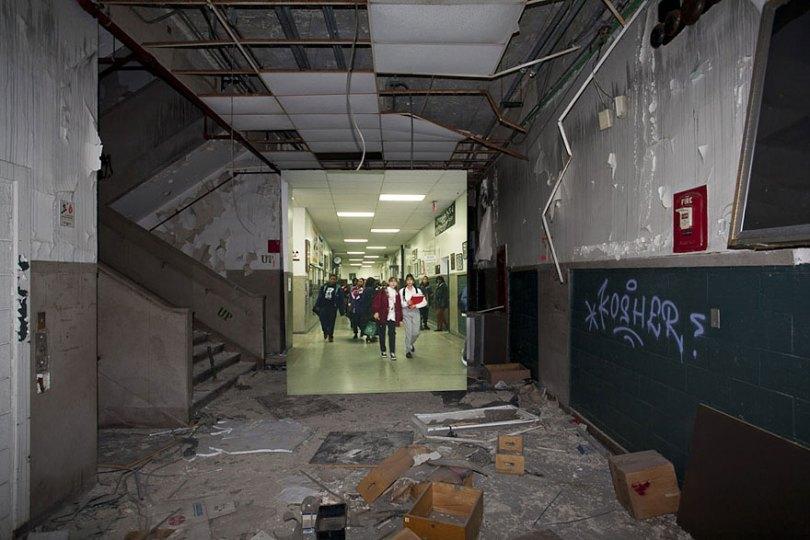 then and now abandoned school in detroit 14 - Fotos de uma escola abandonada em Detroit (antes e depois)