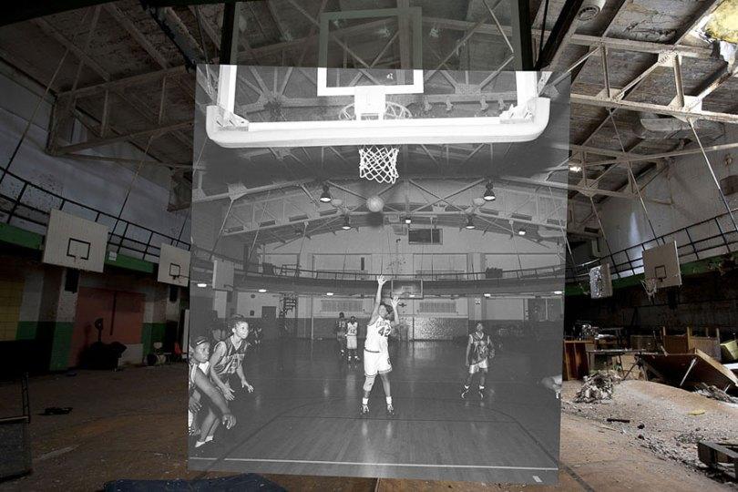 then and now abandoned school in detroit 17 - Fotos de uma escola abandonada em Detroit (antes e depois)