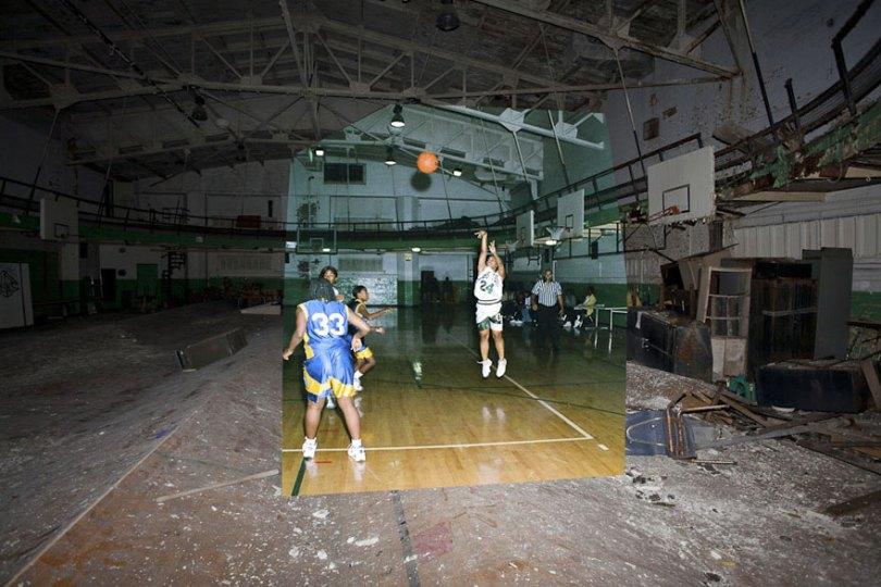 then and now abandoned school in detroit 2 - Fotos de uma escola abandonada em Detroit (antes e depois)