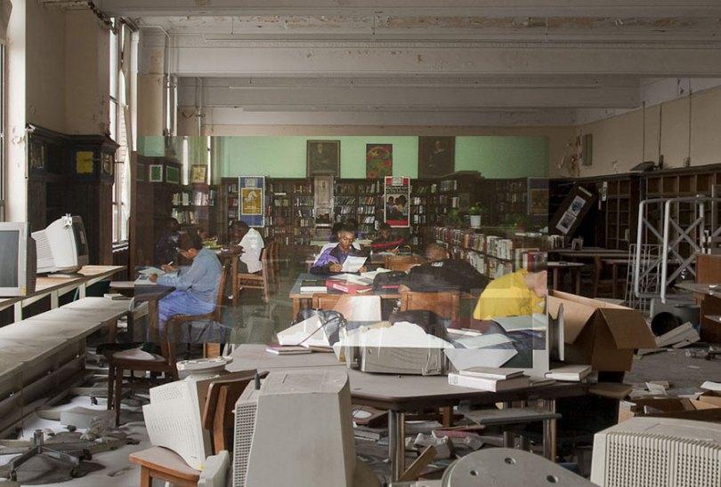 then and now abandoned school in detroit 21 - Fotos de uma escola abandonada em Detroit (antes e depois)
