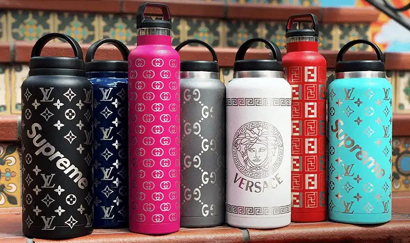 RTIC Water Bottles with Supreme Custom Design