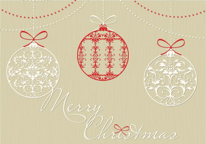 Decorative Christmas Ornament Brushes And PSD Background