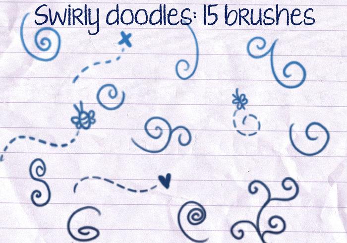 Swirly Doodles Brushes Free Photoshop Brushes At Brusheezy