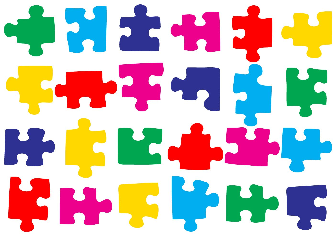 Free 50 Puzzle Pieces Brushes