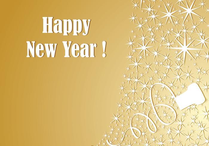 fond d ecran gold champagne new year