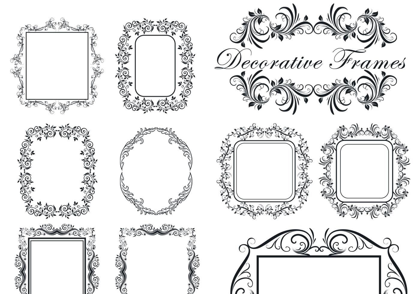 Decorative Frame Brushes