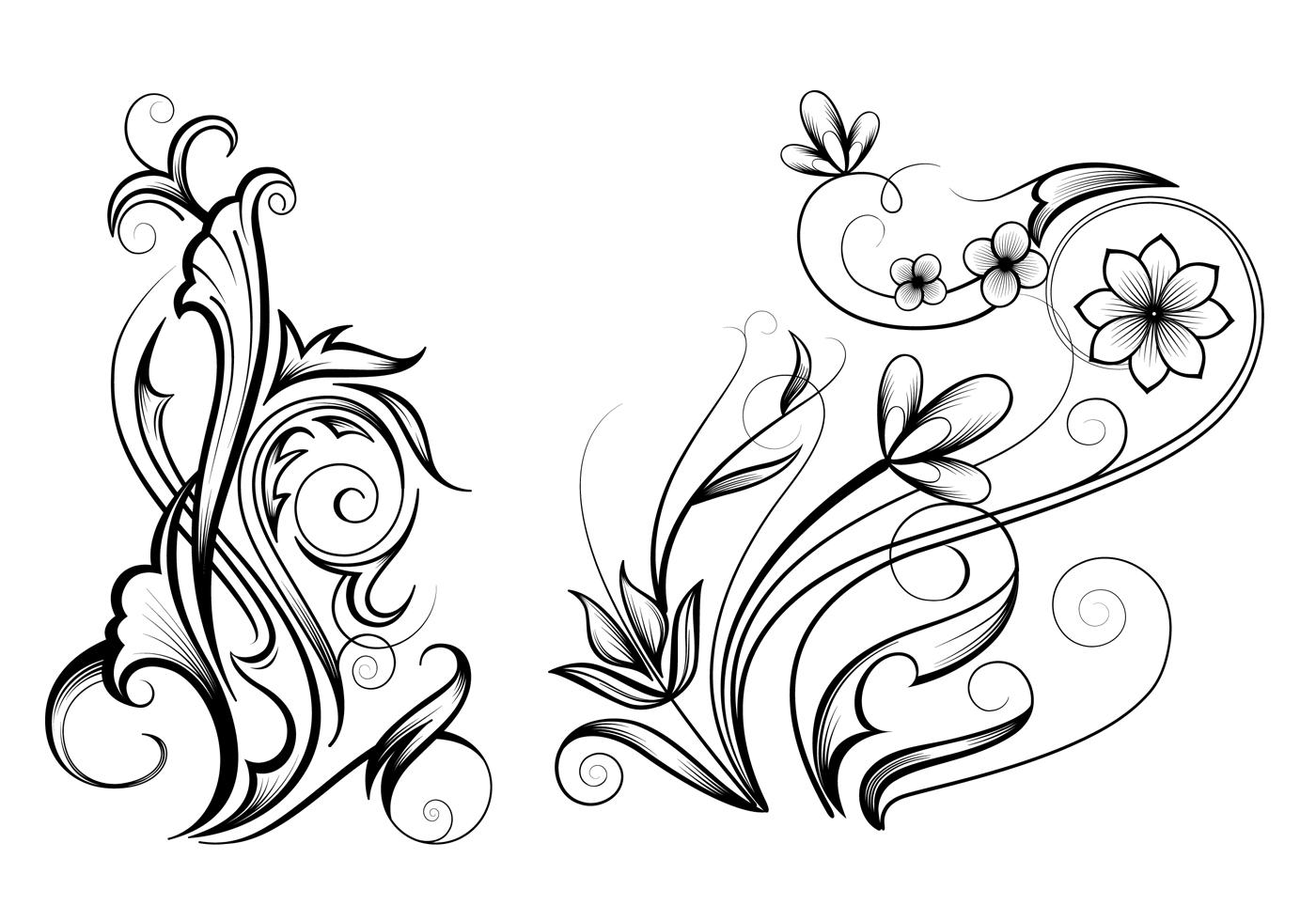 Free Ornamental Swirl Brushes