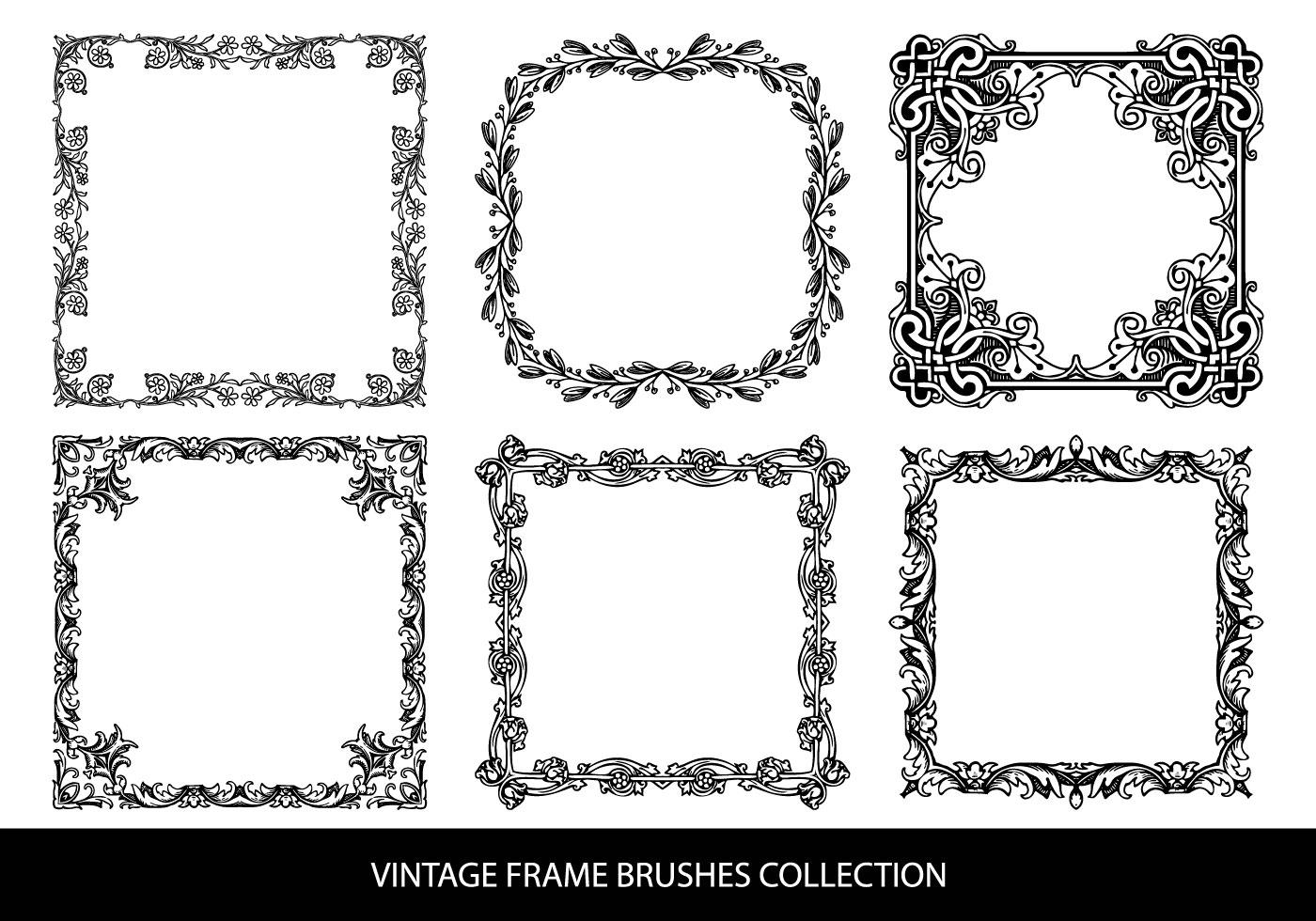 Decorative Vintage Frame Brushes