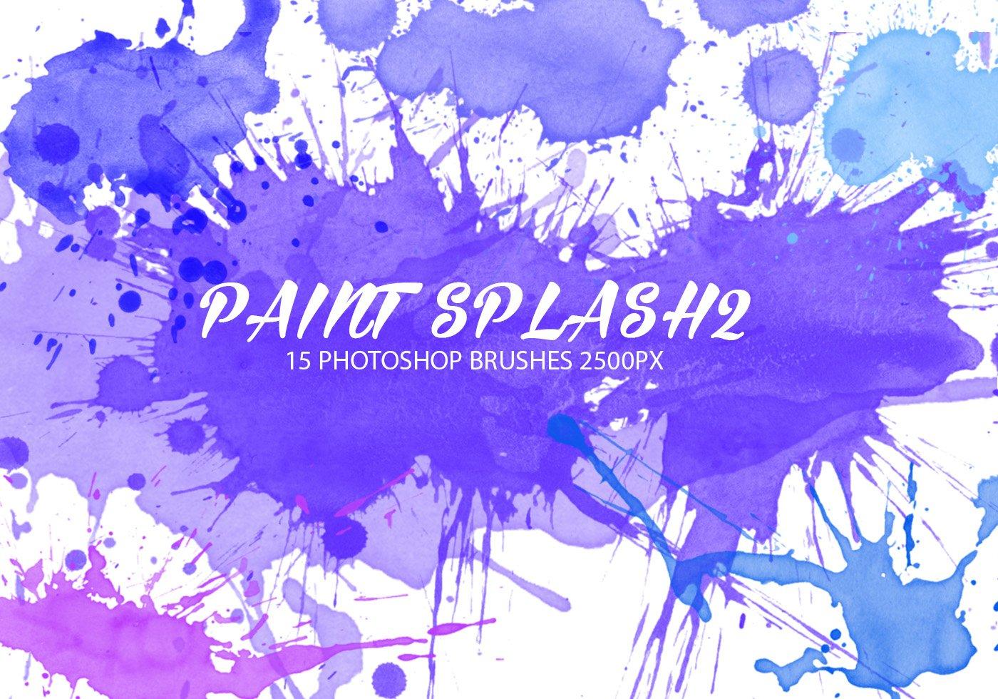 Colorful Paint Splatter Background