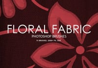 Libre de la tela floral Pinceles para Photoshop