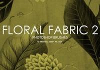 Tela floral libre pinceles de Photoshop 2