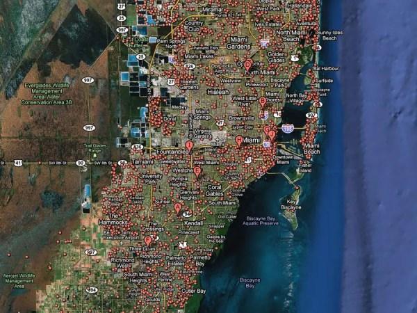 5) Miami -- 1 in 14 homes in foreclosure