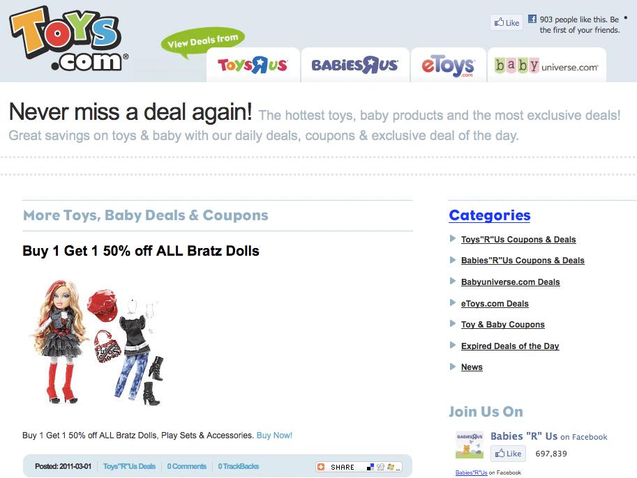 6. Toys.com - $5,100,000