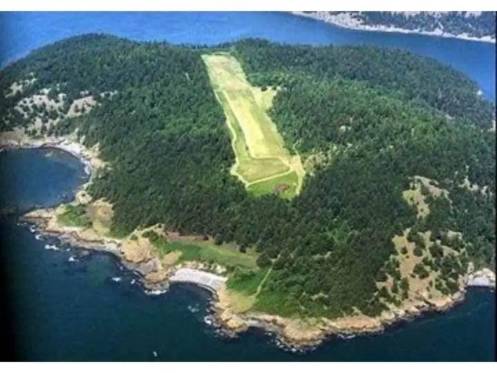 A bird's eye view of Allan Island